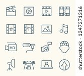 video production line icons   Shutterstock .eps vector #1247271316