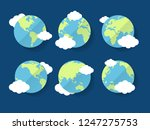 cartoon globe different view... | Shutterstock .eps vector #1247275753