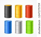 realistic 3d detailed color... | Shutterstock .eps vector #1247275759