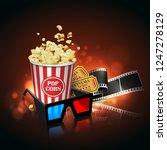 illustration for the film... | Shutterstock .eps vector #1247278129