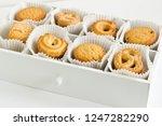 sugar shortbread cookies in... | Shutterstock . vector #1247282290