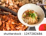 top view of a bowl of spicy... | Shutterstock . vector #1247282686