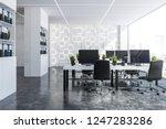 Interior Of Panoramic Office...
