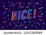 nice. banner  speech bubble ...   Shutterstock . vector #1247283589