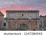 triumphal arch of septimius... | Shutterstock . vector #1247284543