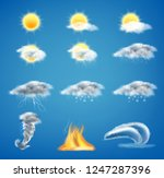 vector 3d realistic set of... | Shutterstock .eps vector #1247287396