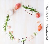 round frame with seasonings.... | Shutterstock . vector #1247287420