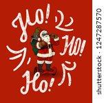 modern santa on gyroscooter. ho ... | Shutterstock .eps vector #1247287570