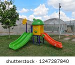 colorful playground equipment... | Shutterstock . vector #1247287840
