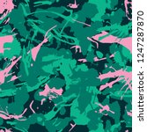 abstract fashionable camouflage ... | Shutterstock .eps vector #1247287870