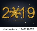 2019 new year celebrate... | Shutterstock .eps vector #1247290870