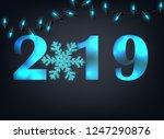 2019 new year celebrate... | Shutterstock .eps vector #1247290876