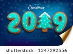 merry christmas and happy new... | Shutterstock .eps vector #1247292556