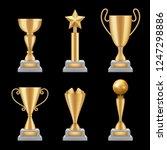 award trophies realistic.... | Shutterstock .eps vector #1247298886