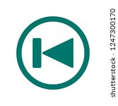 skip button icon. dark green...   Shutterstock .eps vector #1247300170