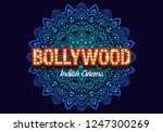 bollywood indian cinema. movie... | Shutterstock .eps vector #1247300269