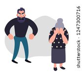 family violence and aggression... | Shutterstock . vector #1247300716