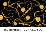 chain gold pattern | Shutterstock . vector #1247317600