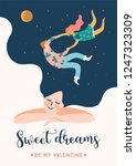 romantic illustration with... | Shutterstock .eps vector #1247323309