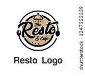 resto logo template stock photo | Shutterstock .eps vector #1247323339