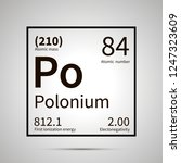 polonium chemical element with... | Shutterstock .eps vector #1247323609