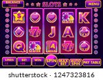 vector interface slot machine... | Shutterstock .eps vector #1247323816