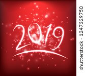 new year 2019 design numbers | Shutterstock .eps vector #1247329750
