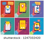 set of illustrations of hand... | Shutterstock .eps vector #1247332420