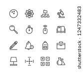 school accessories icon set.... | Shutterstock .eps vector #1247332483