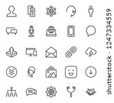 message icon set. collection of ... | Shutterstock .eps vector #1247334559