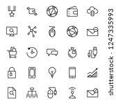 marketing flat icon set. single ... | Shutterstock .eps vector #1247335993