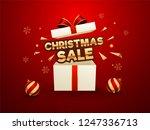 christmas sale banner or poster ... | Shutterstock .eps vector #1247336713