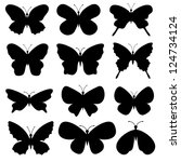 Vector. Butterflies Collection.