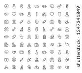 cancer icon set. collection of... | Shutterstock .eps vector #1247341849