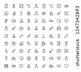cancer icon set. collection of... | Shutterstock .eps vector #1247342893