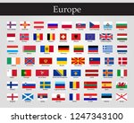 all flags of europe | Shutterstock .eps vector #1247343100