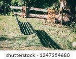 bench in the park | Shutterstock . vector #1247354680