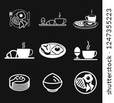 breakfast icon. vector symbol... | Shutterstock .eps vector #1247355223