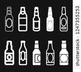 beer bottle icon vector... | Shutterstock .eps vector #1247355253
