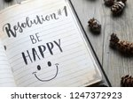 resolution no 1 be happy... | Shutterstock . vector #1247372923