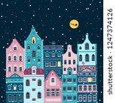 vector christmas illustration...   Shutterstock .eps vector #1247374126