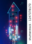 5g tower communication antenna. ... | Shutterstock .eps vector #1247378170