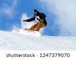 snowboarder in fresh snow | Shutterstock . vector #1247379070