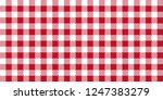 Red And White Woven Gingham....