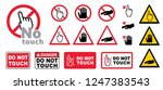 danger warning sign please do... | Shutterstock .eps vector #1247383543