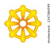 dharma chakra   symbol of... | Shutterstock .eps vector #1247384599