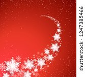 holiday blizzard. christmas and ... | Shutterstock .eps vector #1247385466