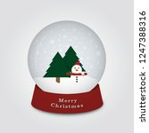 merry christmas snow globe with ... | Shutterstock .eps vector #1247388316