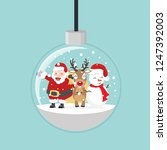 christmas ball with  santa and... | Shutterstock .eps vector #1247392003