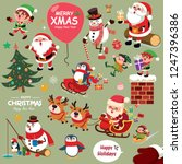 vintage christmas poster design ... | Shutterstock .eps vector #1247396386